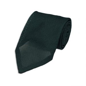 Green Garza Fina Grenadine Silk Tie σαλιγκάρι