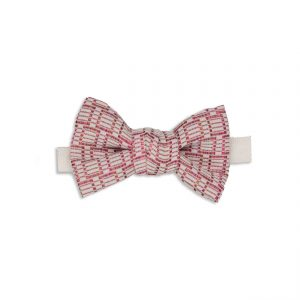 Red Motif Silk Bow Tie