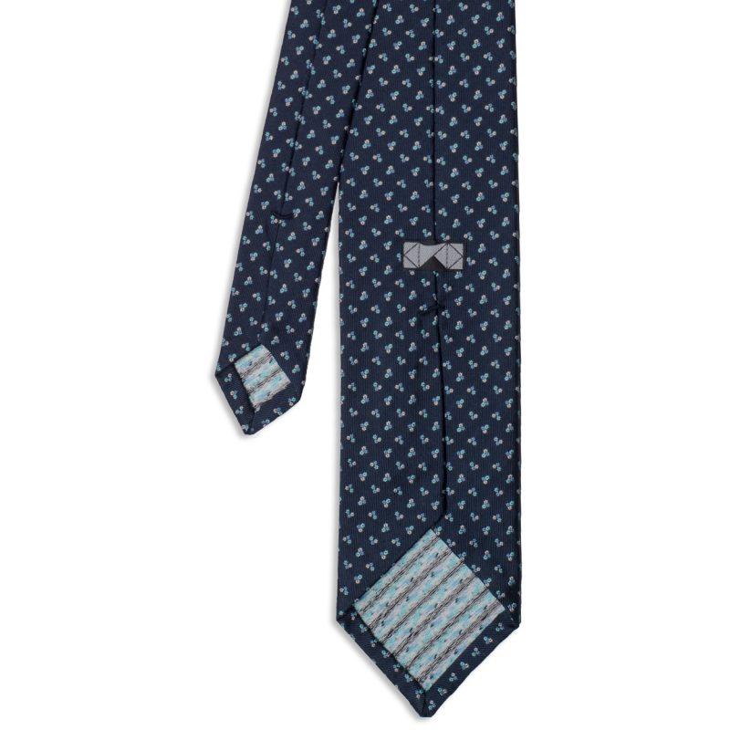 Blue Floral Silk Tie