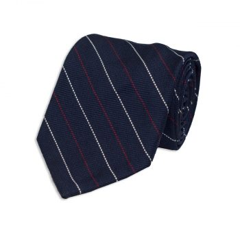 pin striped blue necktie