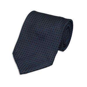 small motif blue tie
