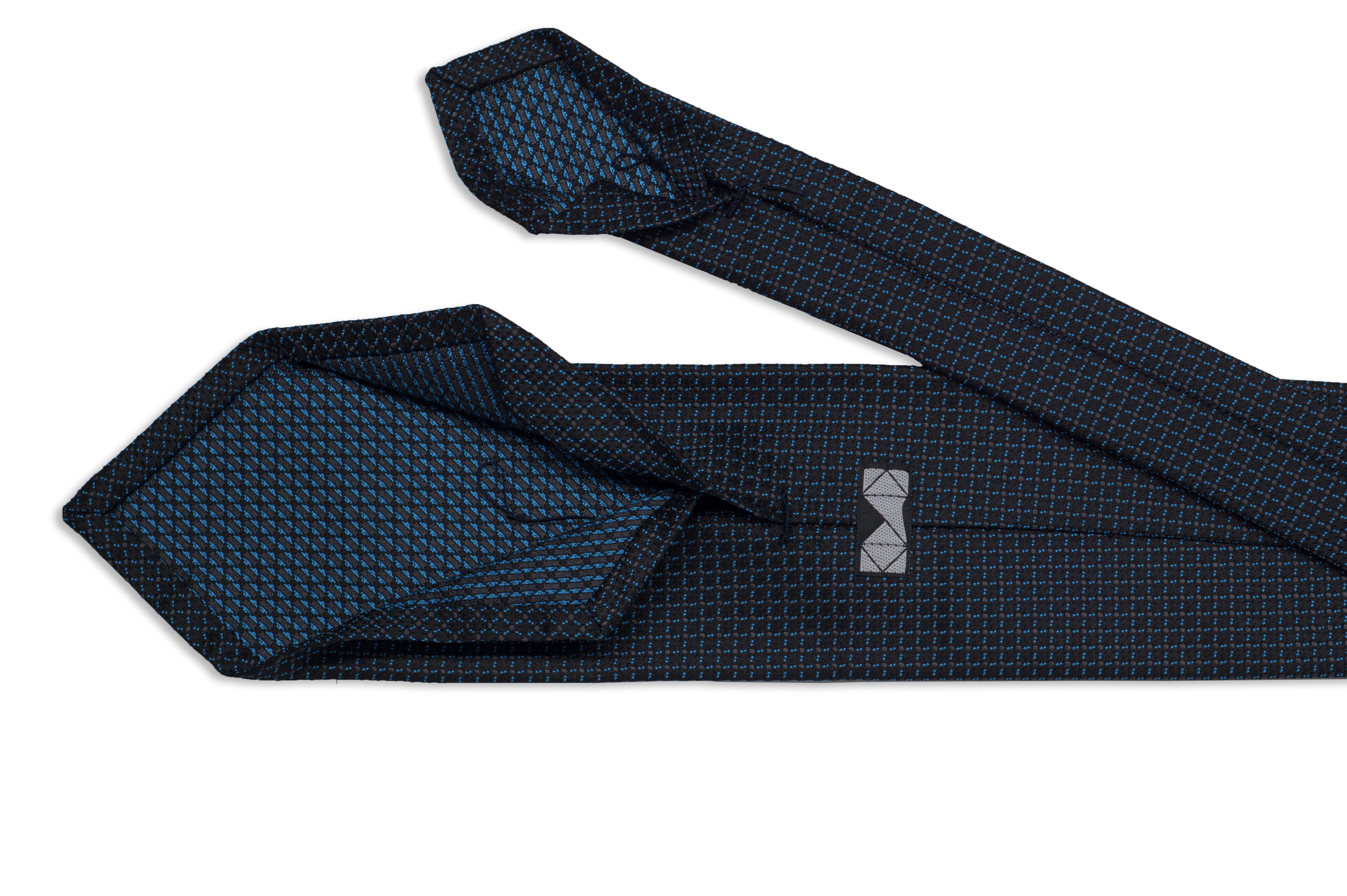 3 fold tie, handmade tie, bespoke tie