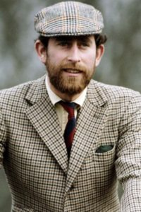 Prince Charles wearing Prince of Wales check