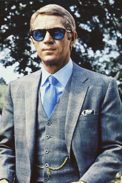Steve McQueen wearing Prince of Wales check