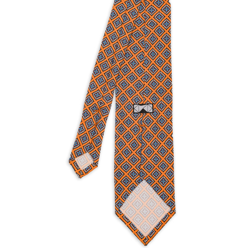 Diamonds Yellow Madder Silk Tie