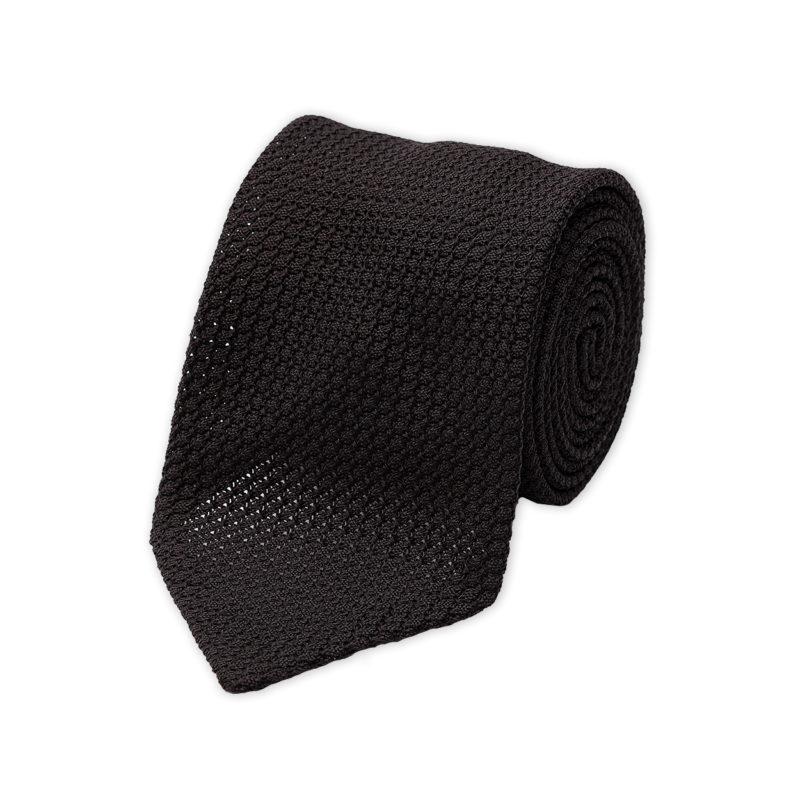 Black Grenadine Silk Tie
