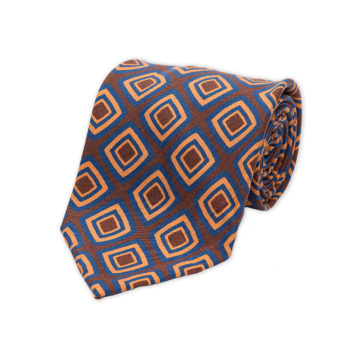 Squares Brown Madder Silk Tie
