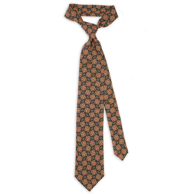 Bordeaux Grenadine Silk Tie