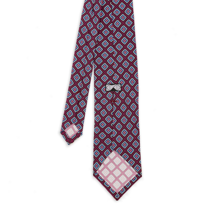 Diamonds Purple Madder Silk Tie