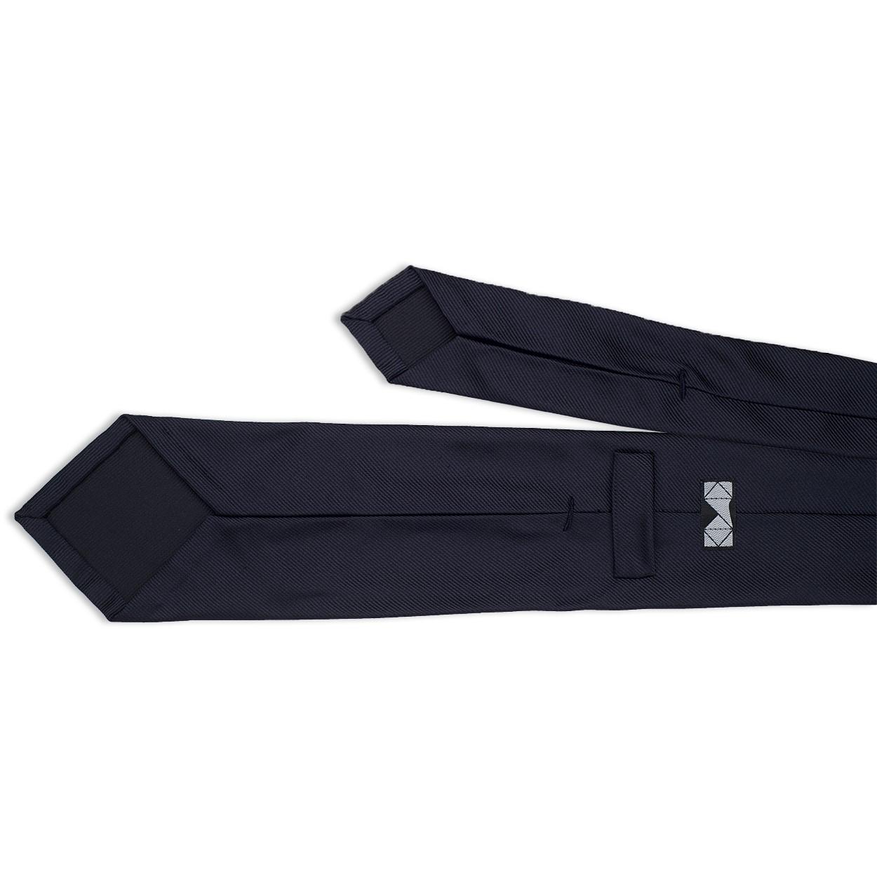 7-διπλη μπλε μεταξωτή γραβάτα
