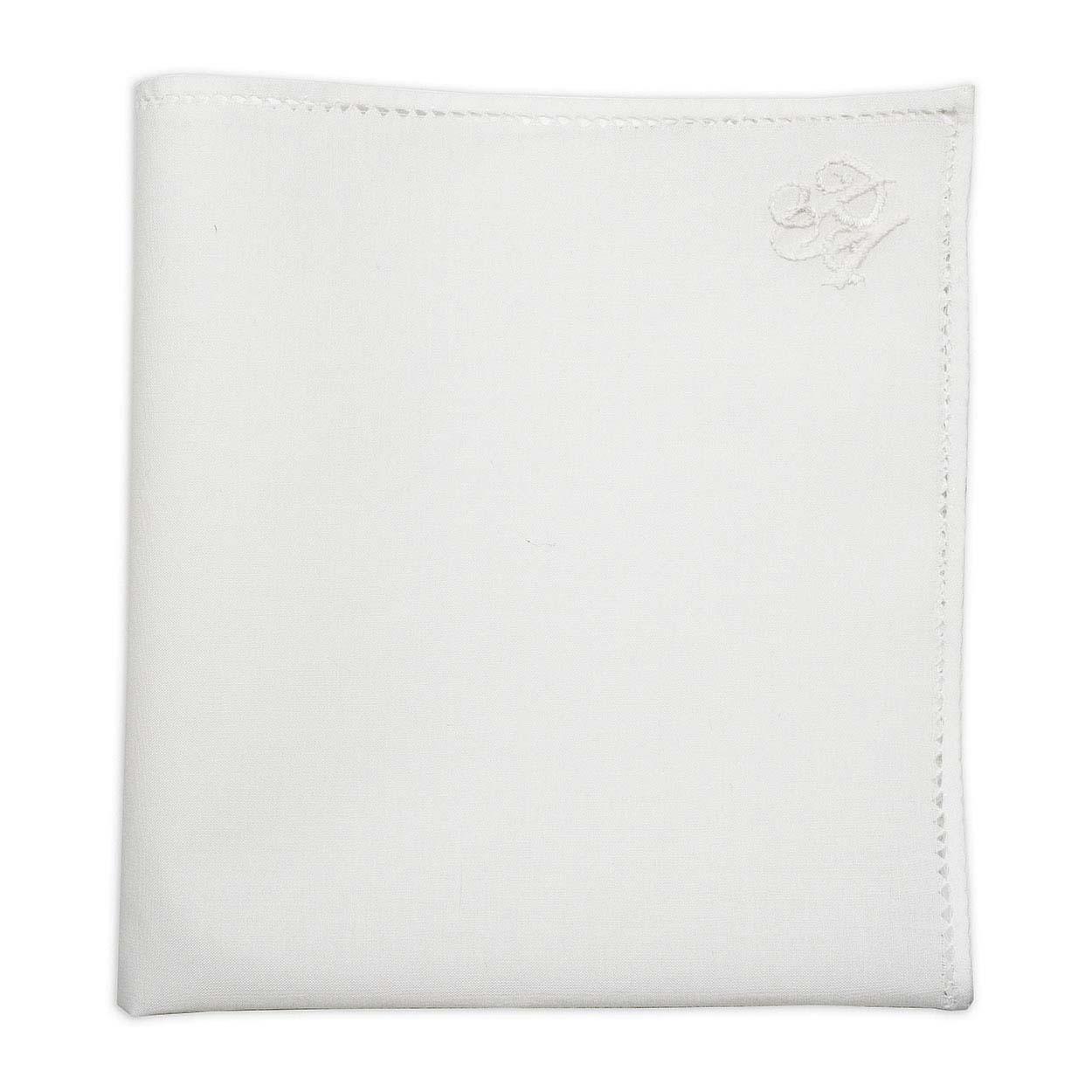 Λευκό μαντήλι πέτου με μονόγραμμα