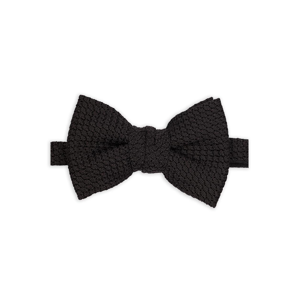 grenadine black bow tie